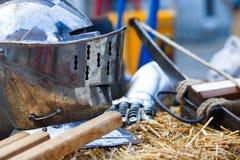шлем средневековый Стоковое фото RF