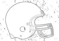 Шлем футбола Стоковое Изображение RF