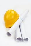 шлем чертежей трудный Стоковое фото RF