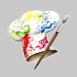 шлем шеф-поваров покрасил toque Стоковые Фото