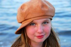 шлем девушки ребенка Стоковое Изображение