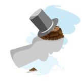 шлем groundhog дня Бесплатная Иллюстрация