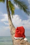 шлем s santa Стоковая Фотография