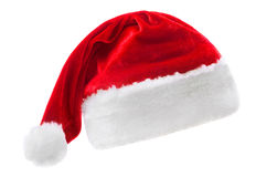 шлем s santa Стоковое Изображение