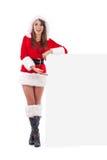 шлем santa девушки рождества Стоковая Фотография RF