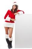 шлем santa девушки рождества Стоковые Фотографии RF