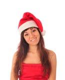 шлем santa девушки Стоковая Фотография