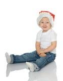 шлем santa девушки Стоковые Изображения