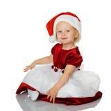 шлем santa девушки Стоковые Фотографии RF