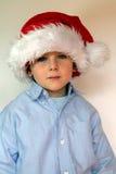 шлем santa мальчика Стоковые Фотографии RF