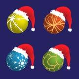 шлем santa рождества Стоковое Изображение