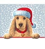 шлем santa собаки Стоковая Фотография