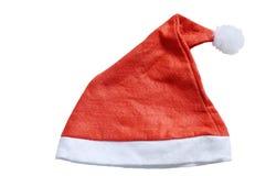 Шлем Santa Claus на белой предпосылке Стоковые Изображения