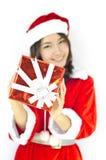 Шлем Santa Claus с серым рождеством Стоковые Фотографии RF