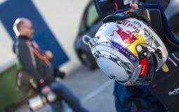 Шлем Sebastian Vettel Стоковые Изображения