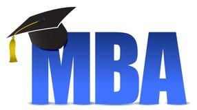 Шлем tassel градации MBA иллюстрация штока