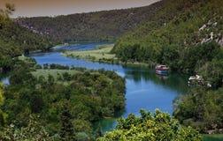 Шлепок Roski - национальный парк Krka (Хорватия) Стоковое фото RF