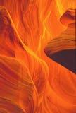 шлиц каньона сказовый светлый Стоковое фото RF