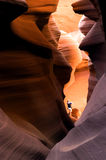 шлиц hiker каньона Стоковое Фото
