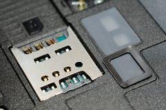 шлиц sim карточки микро- Стоковое Изображение RF