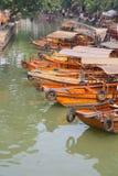 Шлюпка в китайском городке воды Стоковая Фотография RF