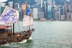 Шлюпка Гонконга туристская Стоковое Фото