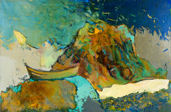 Шлюпка и океан Стоковое Фото