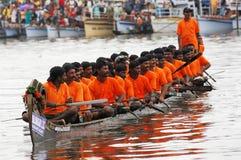 шлюпка Керала участвует в гонке змейка Стоковая Фотография RF