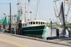 Шлюпка креветки Луизианы стоковые фото