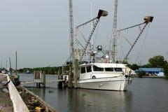 Шлюпка креветки Луизианы стоковая фотография rf