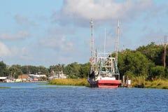 Шлюпка креветки Луизианы стоковое изображение rf