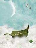 Шлюпка листьев Стоковые Фото