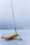 Шлюпка льда на замороженном озере Стоковая Фотография RF