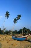 Шлюпка на пляже Sri Lanka Kalutara Стоковое Изображение RF