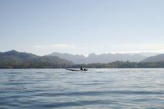Шлюпка на реке Стоковая Фотография RF