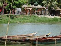 Шлюпка на реке Bon Thu, Hoi, Вьетнаме Стоковые Фото