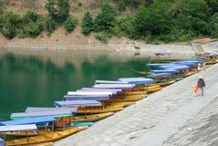 Шлюпка озера Стоковая Фотография