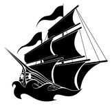 Шлюпка пирата   Стоковое Фото