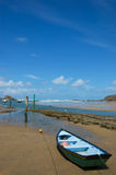 шлюпка пляжа малая Стоковое Фото