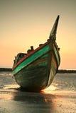 шлюпка пляжа Стоковая Фотография RF