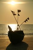 шлюпка пляжа Стоковые Изображения RF