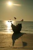 шлюпка пляжа Стоковое Изображение