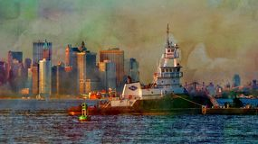 Шлюпка портового буксира Стоковое Изображение RF
