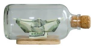 Шлюпка сделала доллары ââof Стоковое фото RF