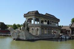 Шлюпка Marbel корабль сделанный камня на летнем дворце Yiheyuan Пекине Стоковые Изображения