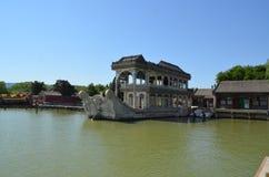 Шлюпка Marbel корабль сделанный камня на летнем дворце Yiheyuan Пекине Стоковое Изображение RF