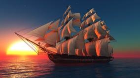 Шлюпка Sailing бесплатная иллюстрация