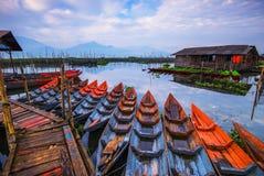 Шлюпка Tradiotional на rawa пиша Wonderfull Индонезию стоковое фото