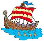 шлюпка viking иллюстрация штока