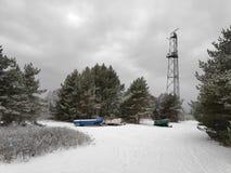 Шлюпки в зиме стоковые фотографии rf